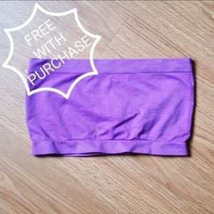 Free with purchase! Purple tube top strapless bra